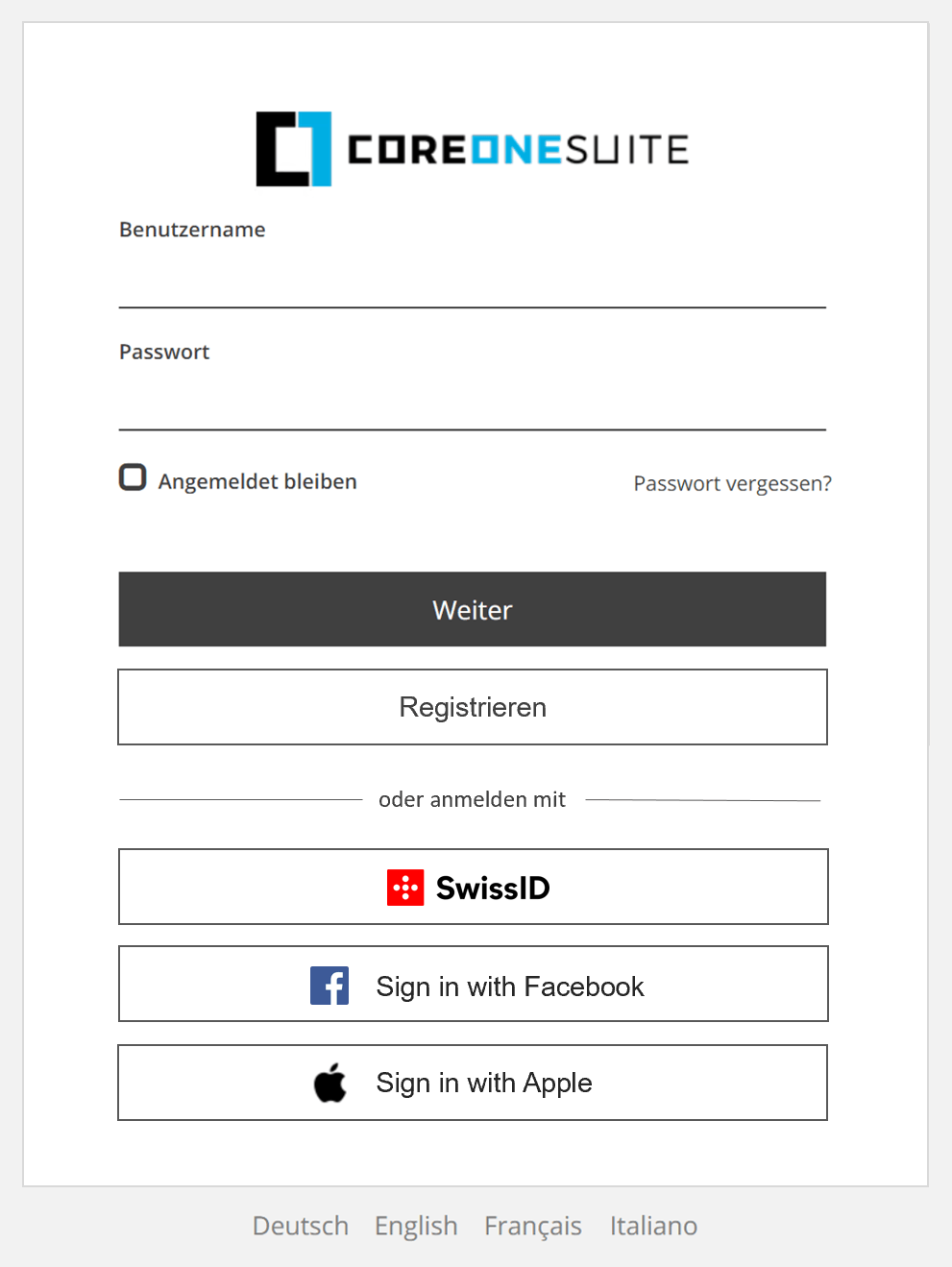 Customer IAM (CIAM) - CoreOne Suite Social Login