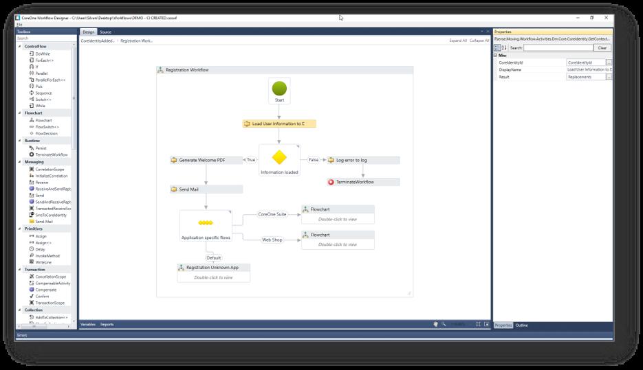 CoreOne Suite Workflow Designer